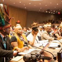 Tapia (Chief Tureygua) at The United Nations with Fana Chiefs and Dignitaries